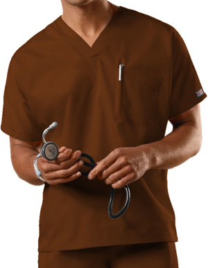 Picture of Cherokee Uniforms-4777-Cherokee Workwear Unisex V-Neck Single Pocket Scrub Top