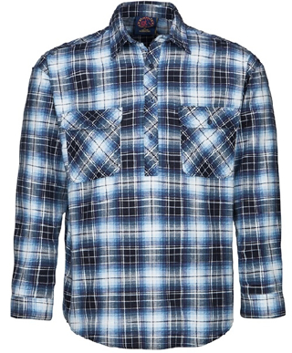 Picture of Ritemate Workwear-RM123FCF-Closed Front Flannelette Shirt