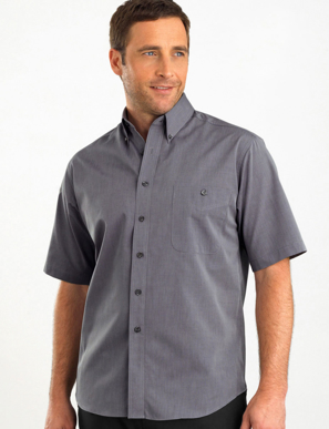 Picture of John Kevin Uniforms-265 Graphite-Mens Short Sleeve Chambray