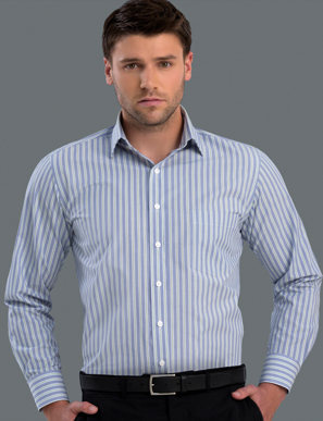 Picture of John Kevin Uniforms-422 Forest-Mens Long Sleeve Fashion Stripe