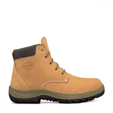 Picture of Oliver Boots-34-632P-WHEAT LACE UP ANKLE BOOT WITH PENETRATION PROTECTION