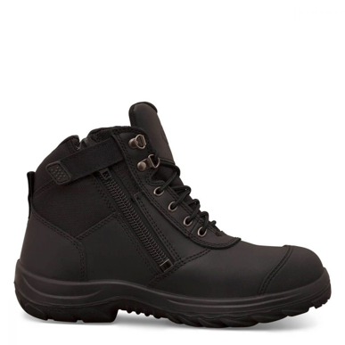 Picture of Oliver Boots-34-660-BLACK ZIP SIDED ANKLE BOOT