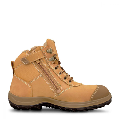 Picture of Oliver Boots-34-662-WHEAT ZIP SIDED ANKLE BOOT