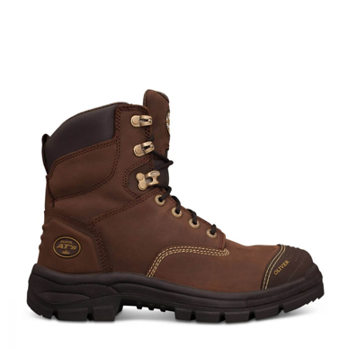 Picture of Oliver Boots-55-337-150MM BROWN LACE UP BOOT