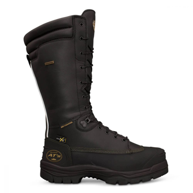 Picture of Oliver Boots-65-691-350mm Black Lace Up Mining Boot