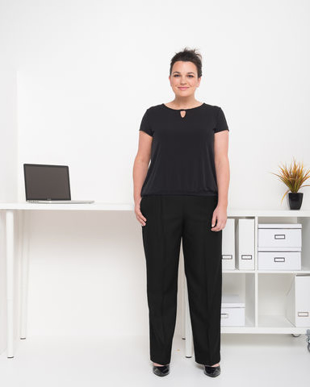 Picture of LSJ collection-197-MF-Ladies Easyfit pull on pant with full back elastic & pockets