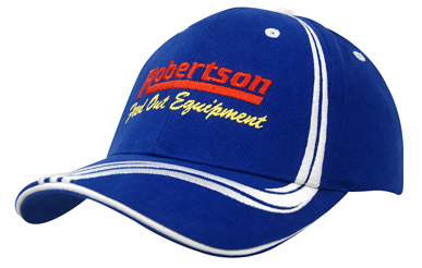Picture of Headwear Stockist-4099-Brushed Heavy Cotton with Waving Stripes on Crown & Peak