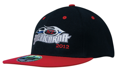 Picture of Headwear Stockist-4106-Premium American Twill with Snap 59 Styling - Two Tone