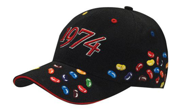 Picture of Headwear Stockist-4119-Brushed Heavy Cotton with Jelly Bean Embroidery