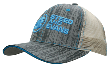 Picture of Headwear Stockist-4143-Wood Printed With Mesh Back