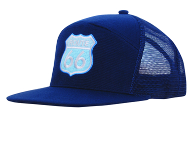 Picture of Headwear Stockist-4154-Premium American Twill A Frame Cap with Mesh Back