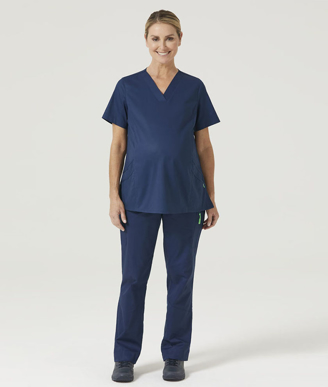 Picture of NNT Uniforms-CATUG3-NAV-Maternity V-Neck Scrub Top