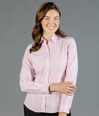 Picture of Gloweave-1891WL-WOMEN'S DOBBY STRIPE LONG SLEEVE SHIRT-CARSON