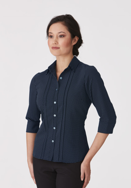 Picture of City Collection-2172-City Stretch® Spot 3/4 Sleeve Shirt